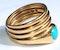 Turquoise serpent hoop - image 4