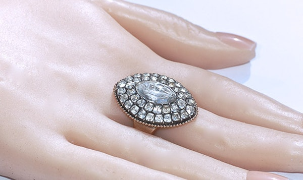 18th Century Portuguese Rock Crystal Ring - image 2