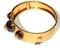 Cabochon garnet bangle - image 2