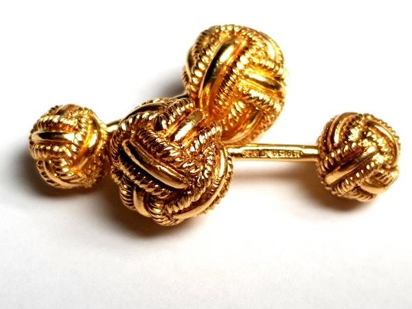 Tiffany Schlumberger 18ct gold solid knot cufflinks  DBGEMS - image 3
