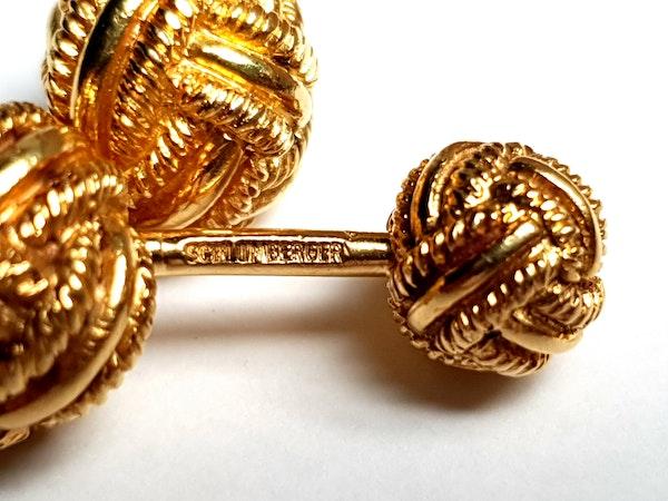 Tiffany Schlumberger 18ct gold solid knot cufflinks  DBGEMS - image 2
