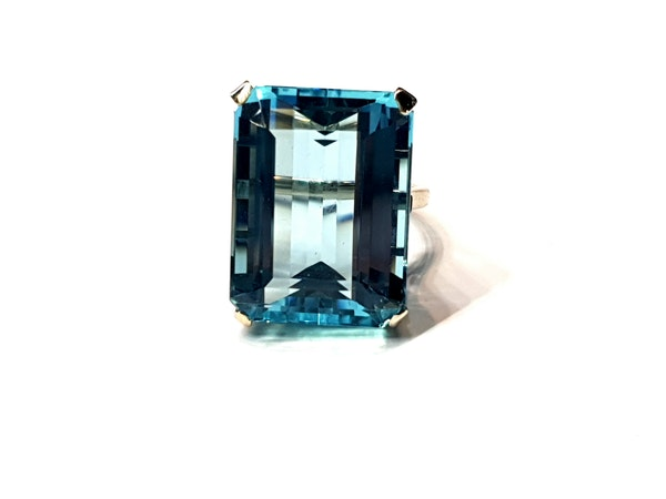 Super 30.35ct Vivid Aquamarine ring  DBGEMS - image 5