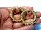 Cool 1960's large twisted hoop earrings  DBGEMS - image 2