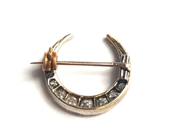 Antique diamond crescent - image 3