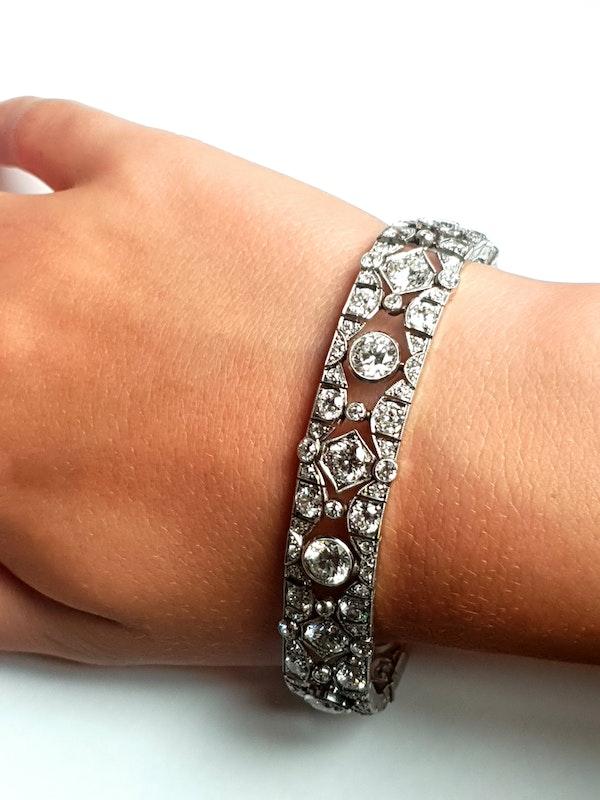 French art deco diamond bracelet  DBGEMS - image 2