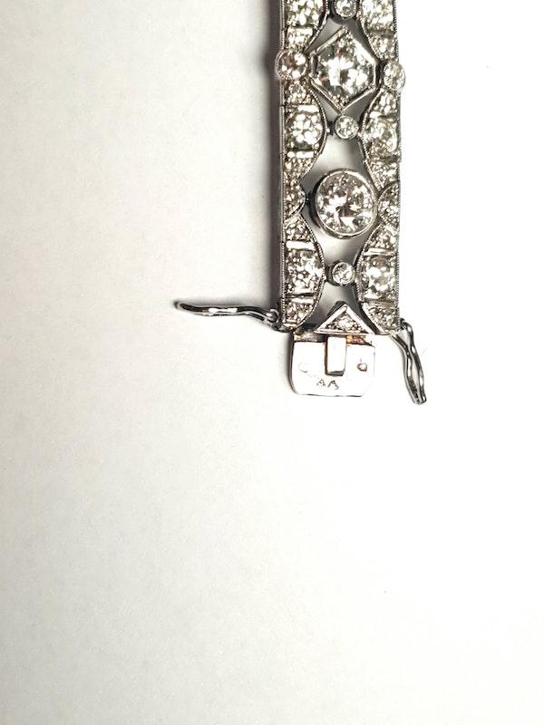 French art deco diamond bracelet  DBGEMS - image 4