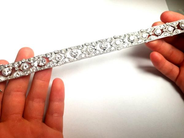 French art deco diamond bracelet  DBGEMS - image 6