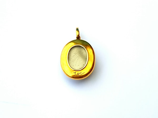 Antique Essex crystal finch pendant locket  DBGEMS - image 2