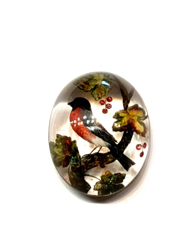Antique Essex crystal finch pendant locket  DBGEMS - image 3