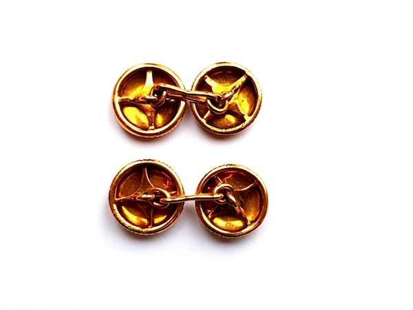 Vintage Cartier 18ct gold cufflinks  DBGEMS - image 2