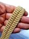 18ct gold inter woven wide gold bracelet  DBGEMS - image 2
