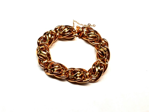 Chic 1960's 18ct gold bracelet  DBGEMS - image 3
