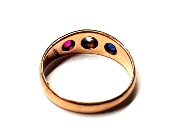 Antique gem set gypsy ring  DBGEMS - image 2