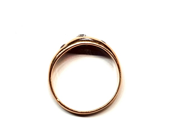 Antique gem set gypsy ring  DBGEMS - image 3