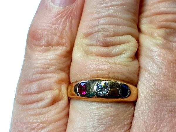 Antique gem set gypsy ring  DBGEMS - image 4