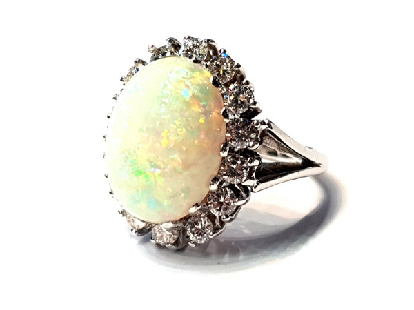 Substantial opal and diamond dress ring  DBGEMS - image 2
