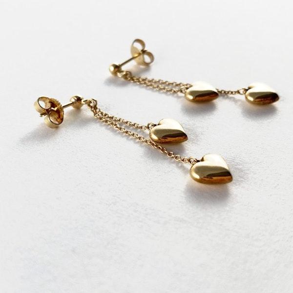 1990's Tiffany & Co 18ct Yellow Gold Earrings,      SHAPIRO & Co - image 2