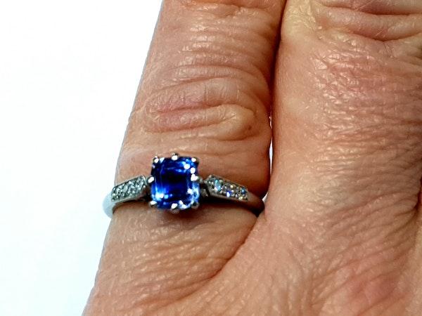 Ceylon sapphire and diamond engagement ring  DBGEMS - image 3