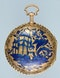 GOLD AND ENAMEL REPEATER AND CHATELAINE - image 3