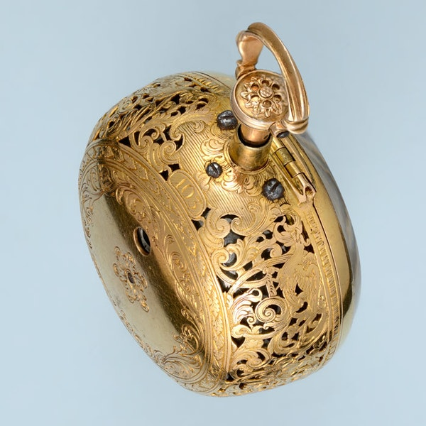 GOLD AND ENAMEL REPEATER AND CHATELAINE - image 6