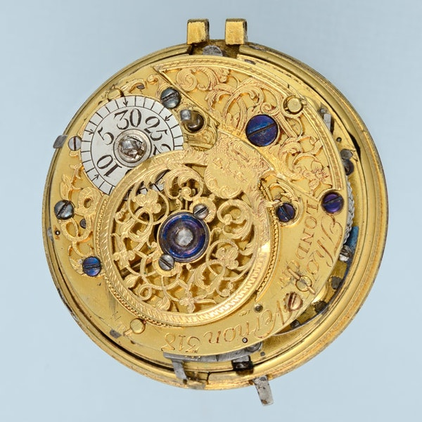GOLD AND ENAMEL REPEATER AND CHATELAINE - image 7