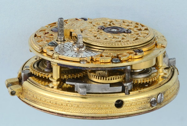 GOLD AND ENAMEL REPEATER AND CHATELAINE - image 8