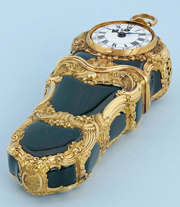 REPEATING GOLD AND BLOODSTONE ETUI - image 2