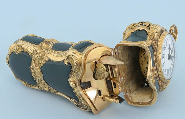 REPEATING GOLD AND BLOODSTONE ETUI - image 3