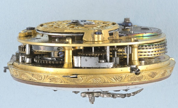 GOLD AND ENAMEL FRENCH REPEATER - image 2