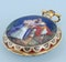CHINESE MARKET GOLD AND ENAMEL CAPTAINS WATCH - image 3