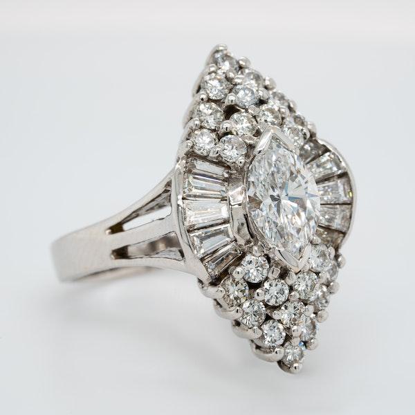Diamond Cocktail Ring - image 2