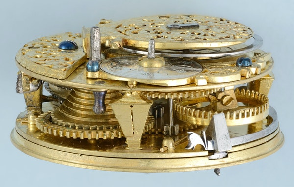 SILVER CHAMPLEVE DIAL CALENDAR - image 3