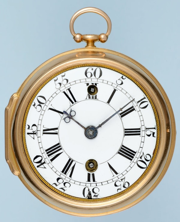 RARE EARLY VERGE POCKET WATCH WITH GARDEN OF EDEN AUTOMATION - image 5