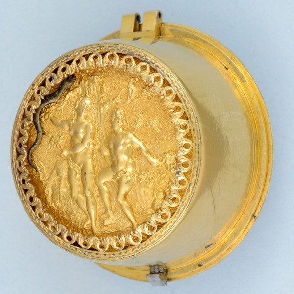 RARE EARLY VERGE POCKET WATCH WITH GARDEN OF EDEN AUTOMATION - image 4