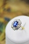 A fine 2.01ct Sapphire and Diamond Cluster Ring mounted in 18ct Yellow Gold & Platinum, Pre-owned - image 1