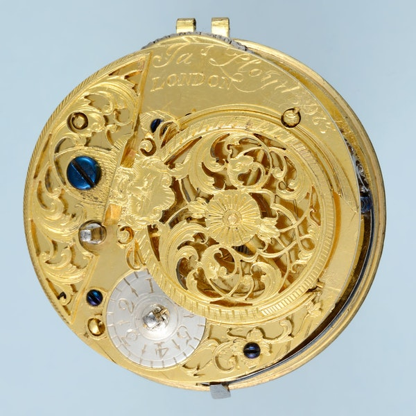 SILVER HALLMARKED CHAMPLEVE DIAL VERGE - image 3