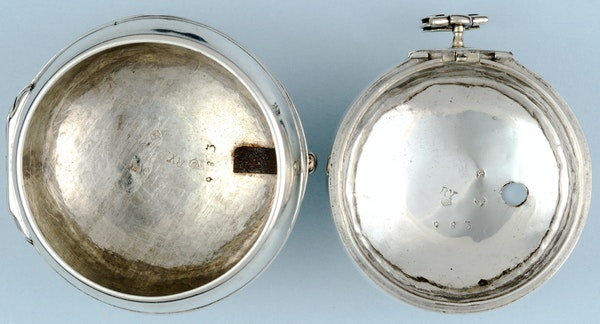 SILVER HALLMARKED CHAMPLEVE DIAL VERGE - image 1