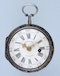 RARE STEEL CASED FRENCH VERGE POCKET WATCH - image 3