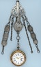 RARE GOLD DECORATED WATCH AND CHATELAINE - image 8