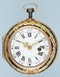 RARE GOLD DECORATED WATCH AND CHATELAINE - image 5