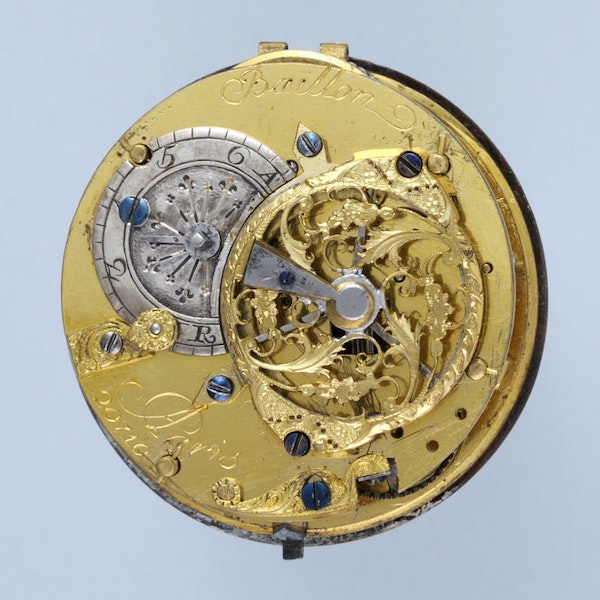 RARE GOLD DECORATED WATCH AND CHATELAINE - image 9