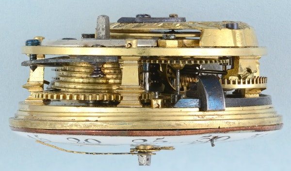 RARE GOLD DECORATED WATCH AND CHATELAINE - image 2