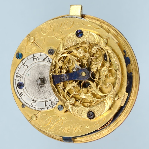 RARE GOLD DECORATED WATCH AND CHATELAINE - image 3