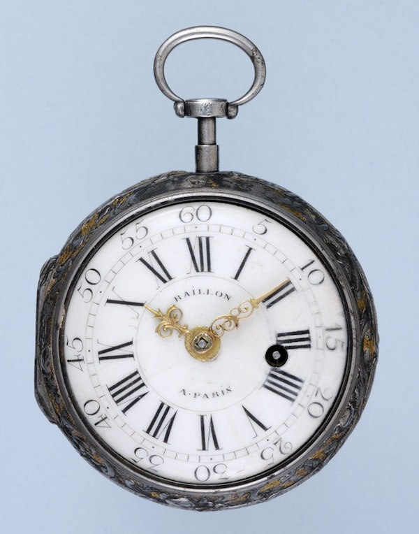 RARE GOLD DECORATED WATCH AND CHATELAINE - image 10