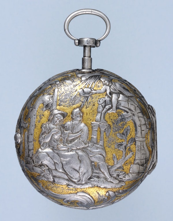 RARE GOLD DECORATED WATCH AND CHATELAINE - image 11