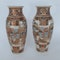Pair Japanese Satsuma vases with decoration of wealthy figures - image 5