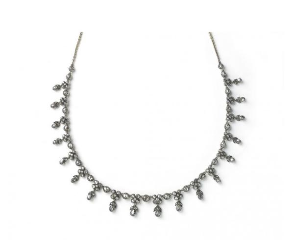 Georgian Rose-Cut Diamond Necklace - image 1