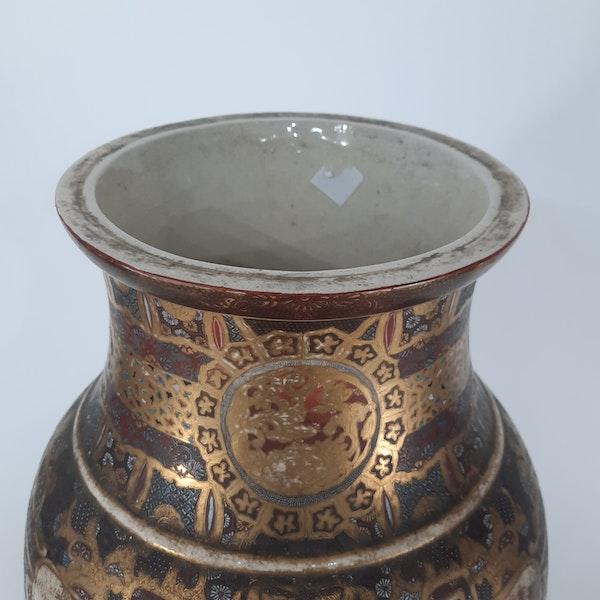 Japanese Satsuma vase with decoration of Samurai - image 1