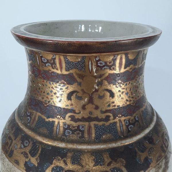 Japanese Satsuma vase with decoration of Samurai - image 4