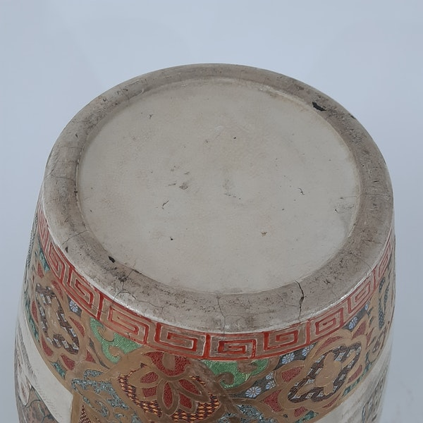 Japanese Satsuma vases with Samurai decoration - image 6
